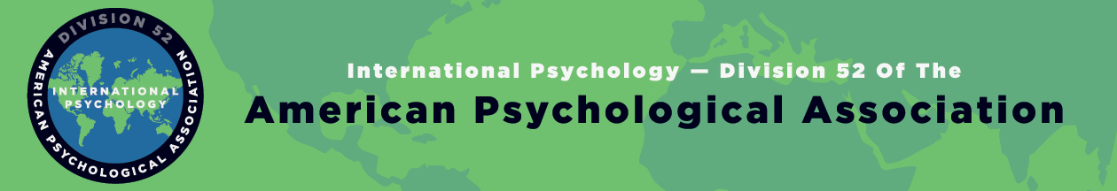 APA Division 52 – International Psychology